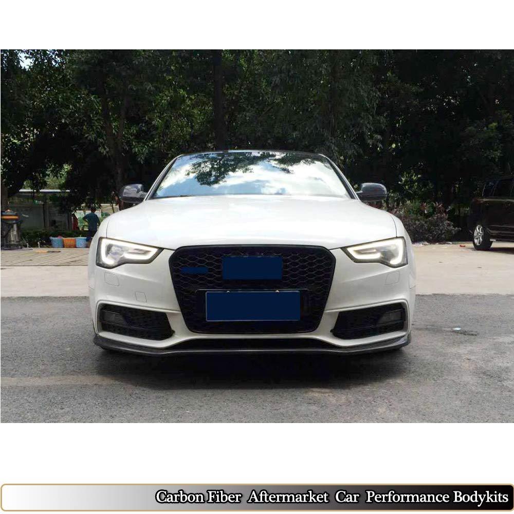 MCARCAR KIT Car Styling Carbon Fiber Front Bumper Lip for 2012-2016 Audi A5  Sline S5 2Door 4Door Chin Spoiler Body Kit