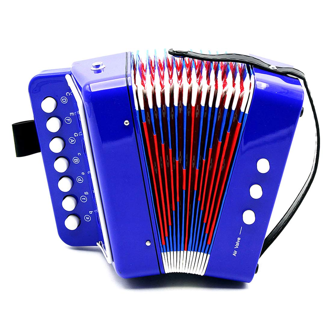 Yamix Kids' Accordion Toy, 10 Keys Toy Accordion Musical Toy Instrument for Early Childhood Learning Teaching