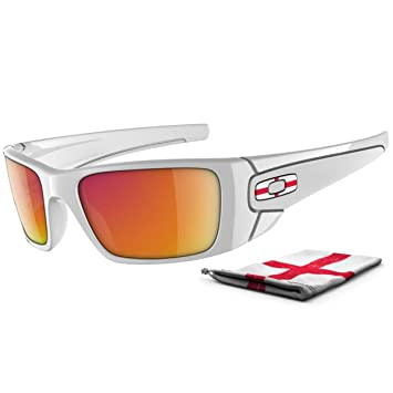 5c1c1016d9b Oakley FUEL CELL ENGLAND Limited Edition polished white with ruby iridium  lens OO9096-15 Polished White