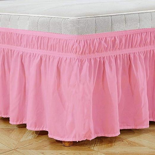QUNCUNG Falda de la Cama. Falda Cama elástica Plisada Bedding ...