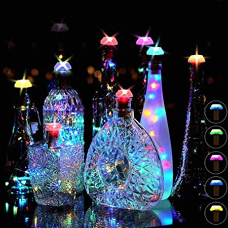 LED Glass Wine Bottle Light up Home Decor Shine Bright Like A Diamond Gift.