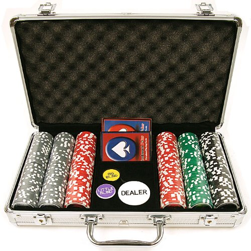 300 15g Clay Welcome to Las Vegas Chip Set w/ Aluminum Case ()