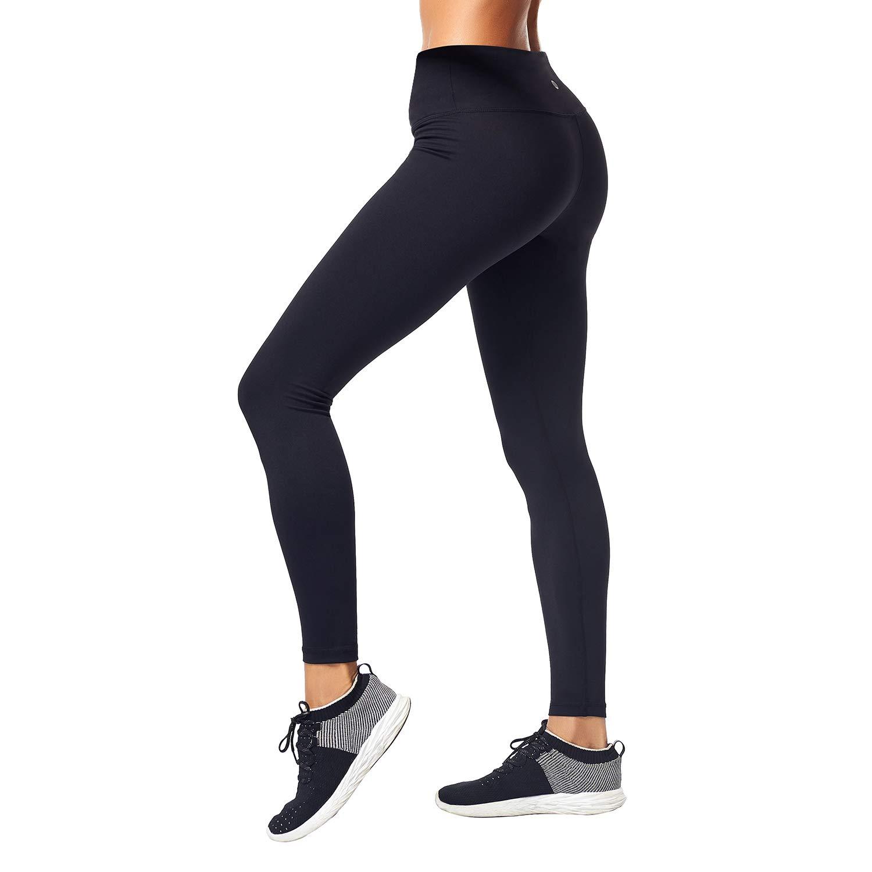 Matymats Women\'s Power Flex Yoga Leggings Non See Through Running Workout Pants with Pockets