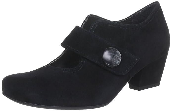 Orleans - Plataforma de cuero mujer, color negro, talla 41.5 Ara