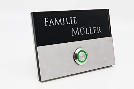 Placa de timbre Berlin acrílico cristal negro 3d Profundidad ...
