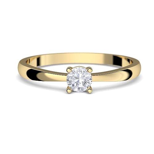 Anillos de Compromiso Oro 333 * * * GRATIS Luxus Funda * * * oro anillo
