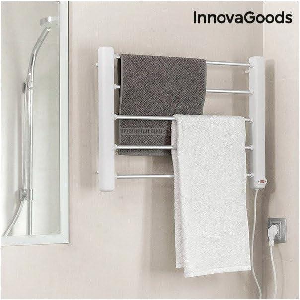InnovaGoods Scaldasalviette elettrico da parete 60/x 43/x 4/cm in alluminio e ABS colore: bianco e grigio