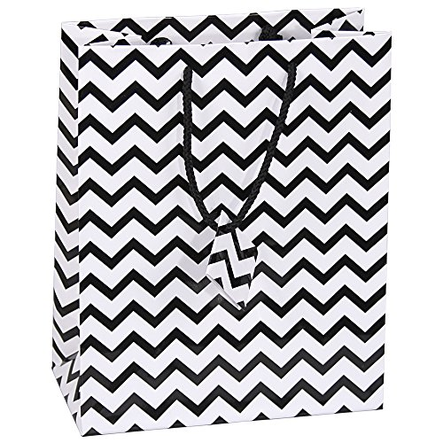 10-pcs-medium-chevron-black-glossy-shopping-paper-gift-sales-tote-bags-with-blank-message-tag-475-x-