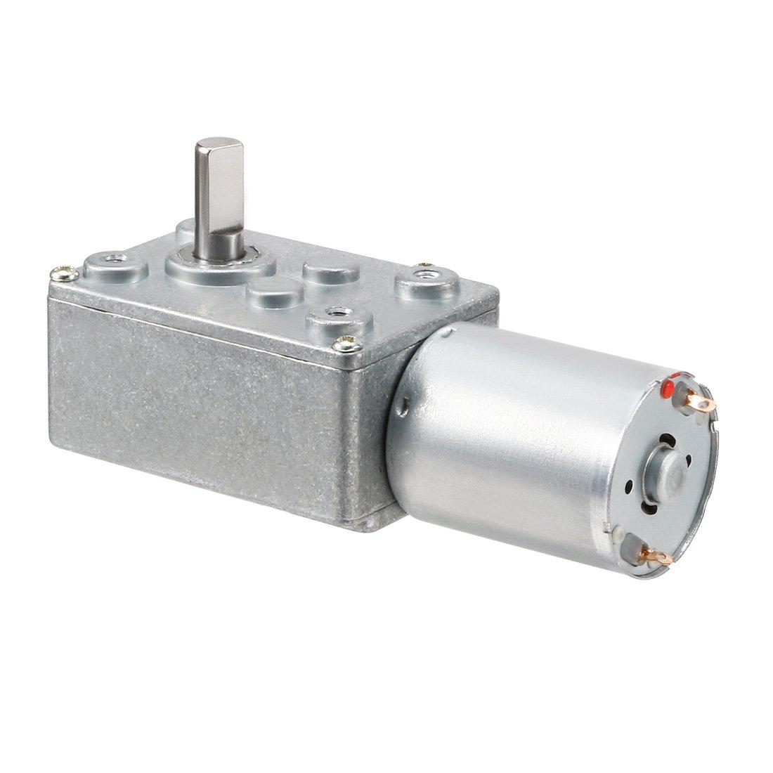 DC 12V 100RPM High Torque Reduction Ratio Reducer Worm Gear Motor