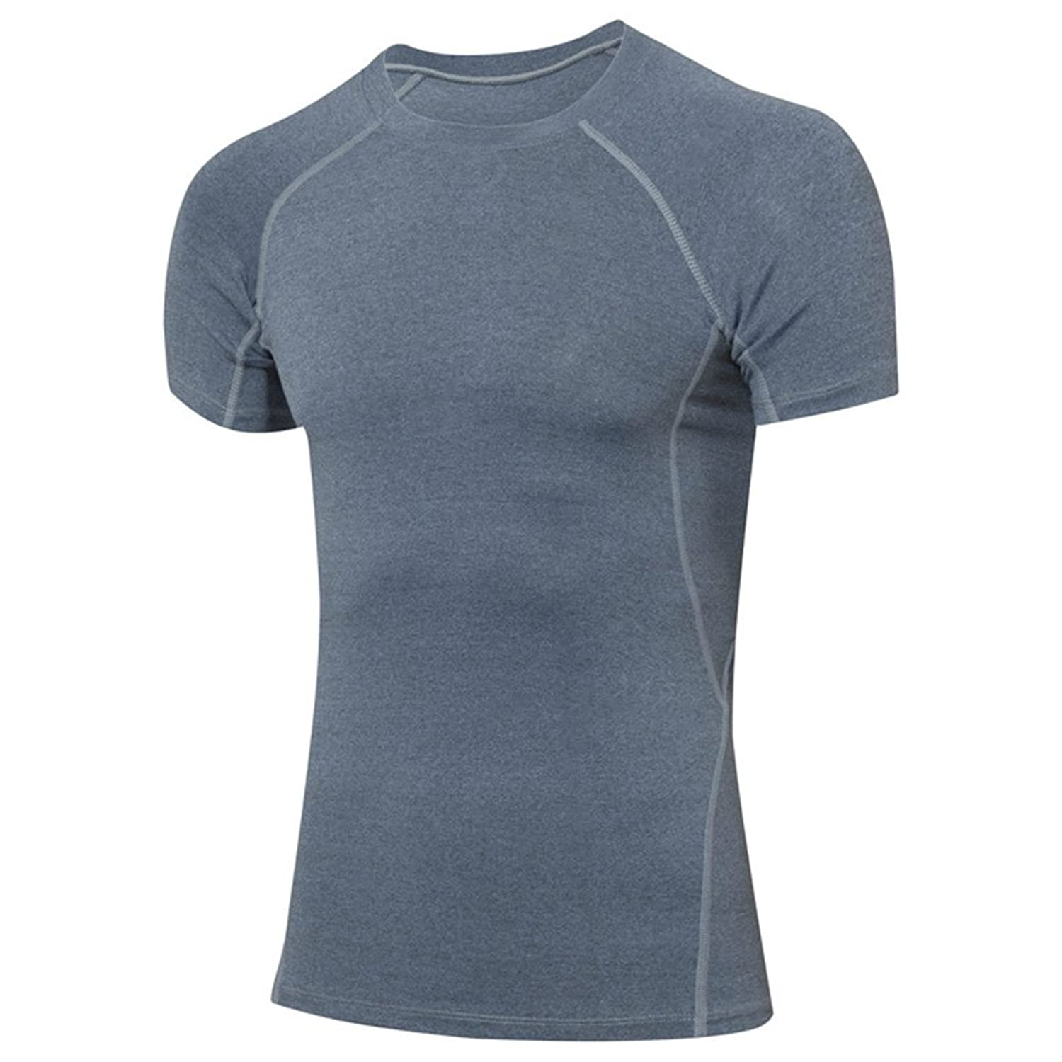 YiJee Herren Sports Pro Cool Compression Shortsleeve Tee mit Quick-Dry-Funktion