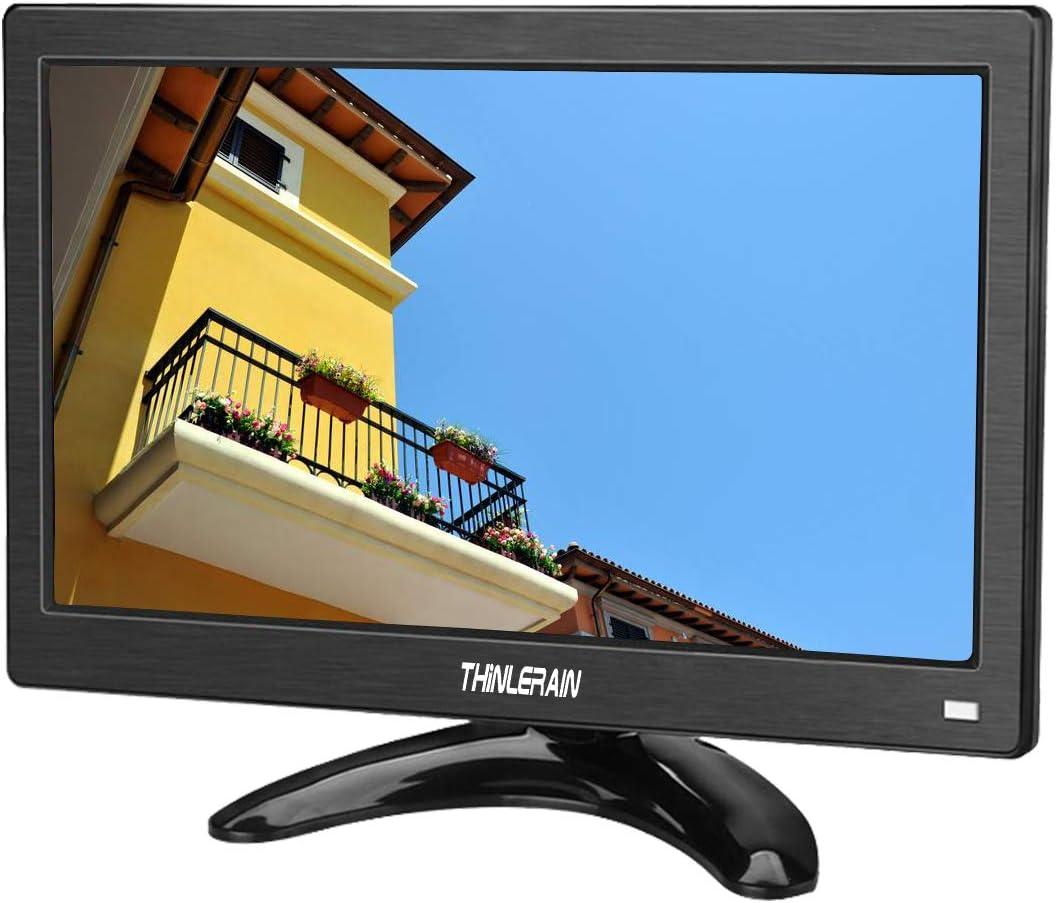 Thinlerain 12 Pulgadas CCTV Monitor Portátil 1366x768 IPS TFT Full HD Vídeo Monitor con HDMI/VGA/USB/AV compatibles TV DVD PC CCTV Cámara Seguridad: Amazon.es: Electrónica