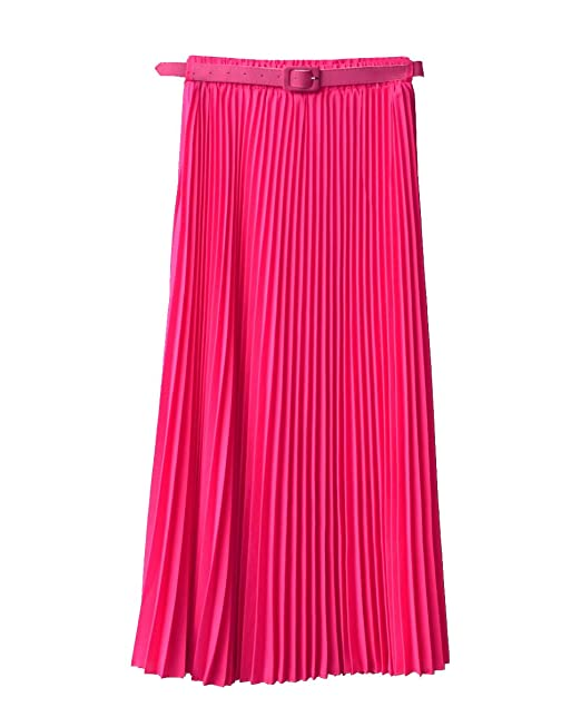 Falda maxi larga para mujer, estilo retro: Amazon.es: Ropa y ...