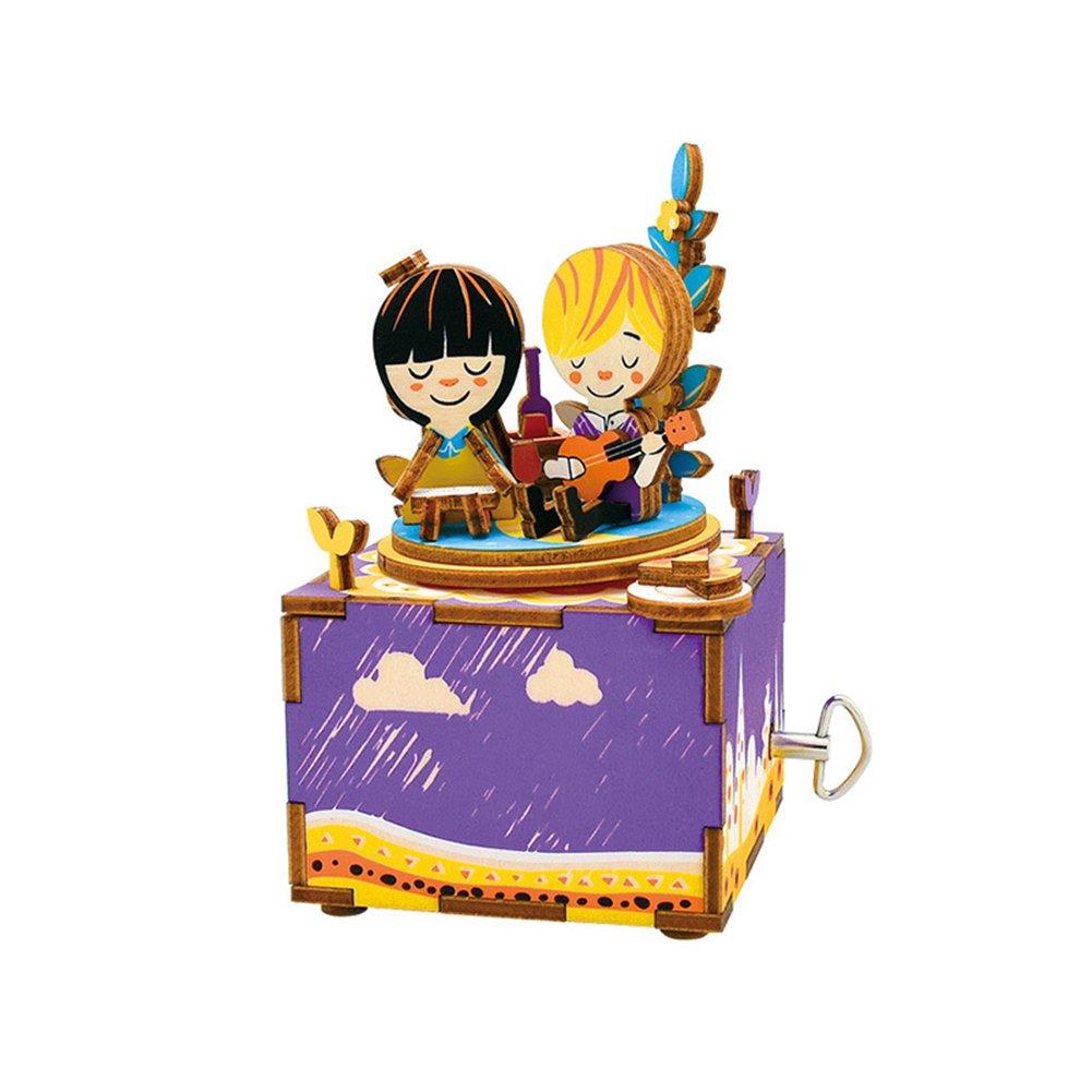 Dedeka Robotime AM3 DIY carillon mucca/Girls/Trojan Horse robot/piccolo uccello carillon carillon girevole (5 tipi), Cow