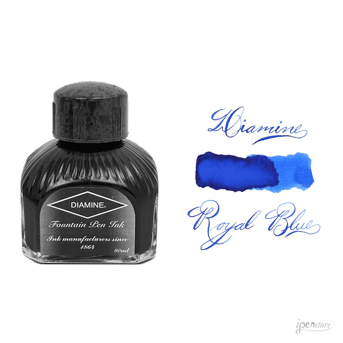 Diamine - Inchiostro per penna stilografica, Royal Blue 80ml 006