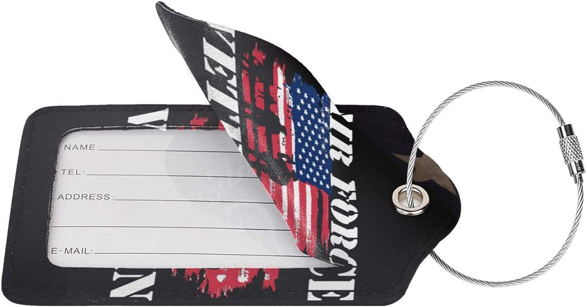 J1S0H0RTBAG Air Force Veteran Luggage Tag /& Bag Tags Briefcases Luggage Bag Business Card Holder