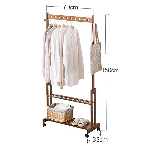 Amazon.com: Perchas de bambú multifunción con diseño de ...