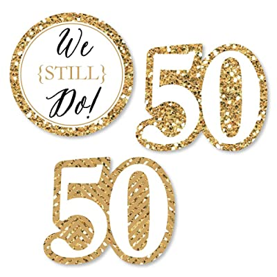 Big Dot of Happiness We Still Do - 50th Wedding Anniversary - DIY Shaped Party Cut-Outs - 24 Count: Toys & Games