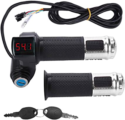 Electirc Scooter E-bike Bicycle Twist Throttle Handlebar Grip 48V LED Display SA
