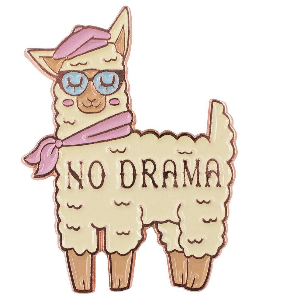 No Drama Llama Enamel Cute Pin TeesAndTankYou NDL-002