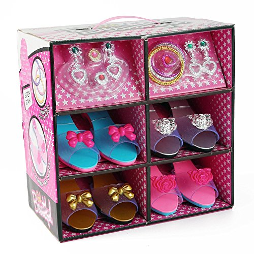 AMPERSAND SHOPS Dainty Princess Shoe and Jewelry Collection for Dress Up and Pretend Play