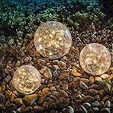 Garden Solar Lights, Cracked Glass Ball Waterproof