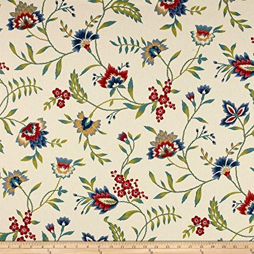 Waverly Carolina Crewel Bluebell Fabric By The (Cotton Crewel Duvet)
