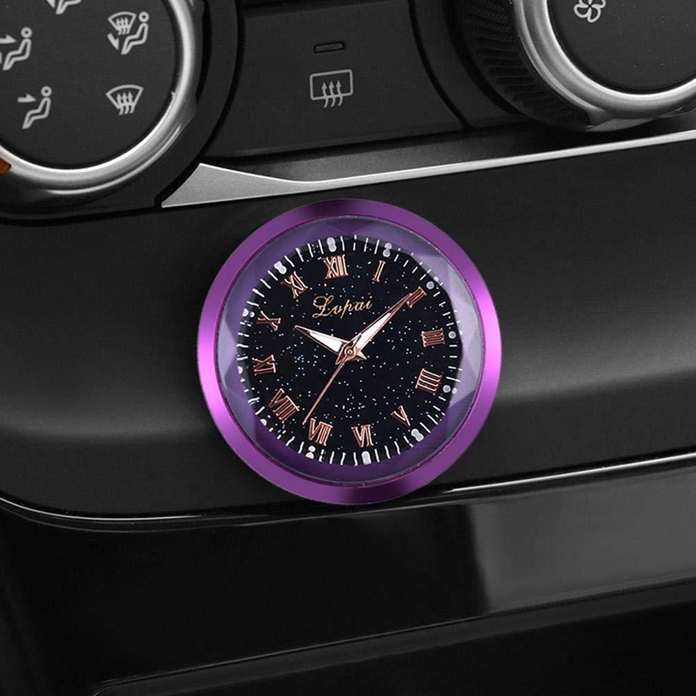 Auto Uhr f/ür Autos 3PCS Blue-Yan Auto Mini Armaturenbrett Uhr Autos Air Vent Quarz Uhren SUV und MPV Auto Dekoration elektronische Uhr Gold, Lila, Schwarz