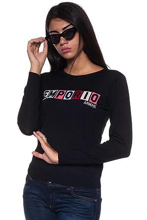 Emporio Armani - Pull - Femme Noir Noir  Amazon.fr  Vêtements et accessoires 5ec16965cb9