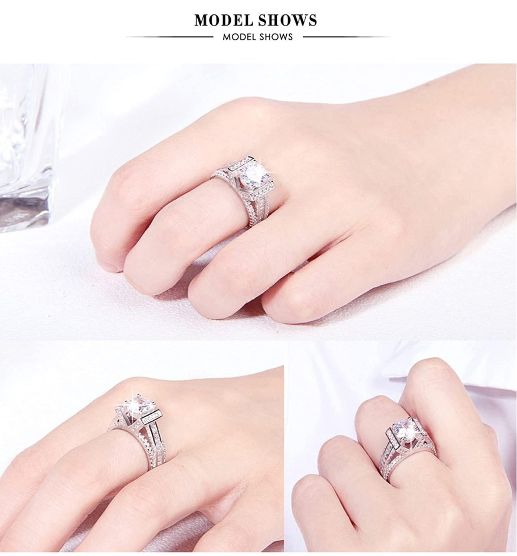 Amazon.com: Eternal Love Women\'s 18K White Gold Plated CZ Crystal ...
