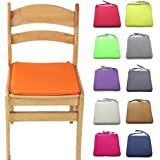 Woopower 40 x 40 CM Square Solid Chair Seat Pads With Cord For Patio Home Car Sofa Office Tatami Decoration(Orange)