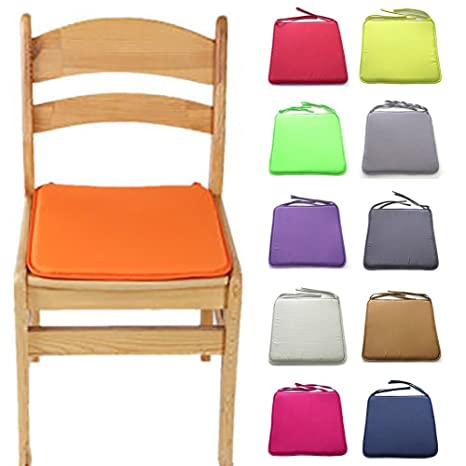 Cojines para silla, 40 x 40 cm, cuadrados, sólidos, con cordón, para ...