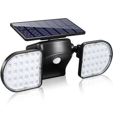 Motion Sensor Light Outdoor, YULAMP 56 LED Solar Light Outdoor With Motion Sensor Wall Light Adjustable Solar Motion Sensor Spotlight Waterproof ...
