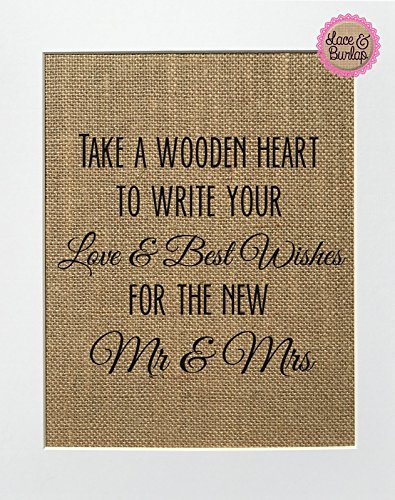 Best Wishes Signs - 8x10 UNFRAMED Take A Wooden Heart