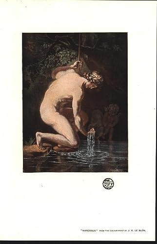 amazon com narcissus greek mythology cherub by j k le blon 1903