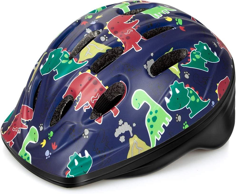 14 Vents Safety /& Fun Print Design for Kids Skating Cycling Scooter OutdoorMaster Toddler Bike Helmet CPSC Certified Multi-Sport Adjustable Helmet for Children Age 3-5