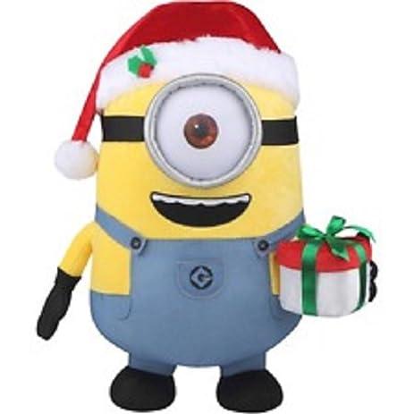 21 christmas minion stuart plush greeter - Christmas Minion