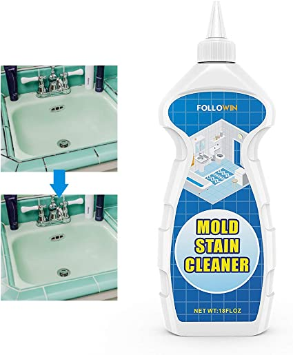 Amazon Com Followin Mold And Mildew Bathroom Cleaner Gel 18oz Household Stain Cleaner For Showers Tiles Grout Sealant Sinks Health Personal Care