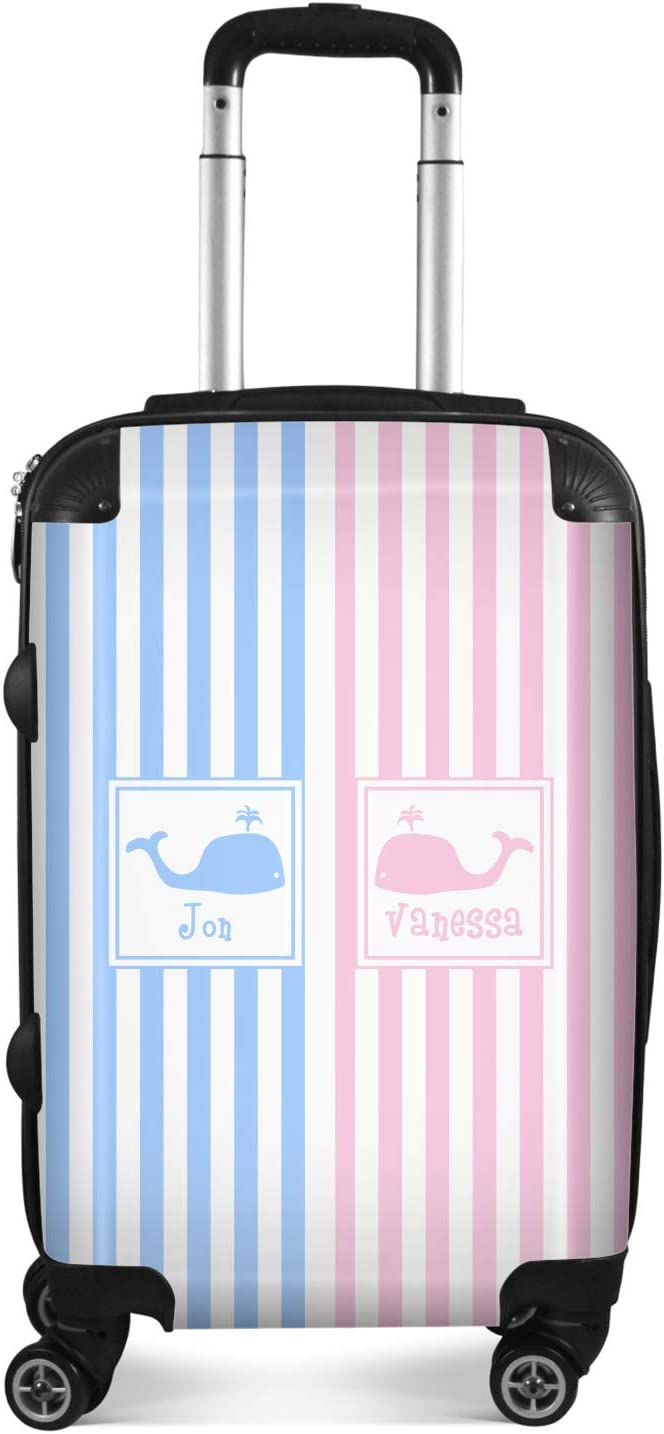 Checked Personalized 24Medium Striped w//Whales Suitcase