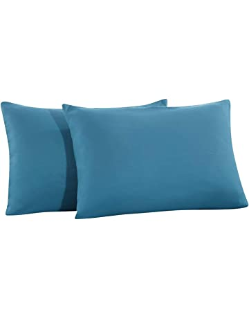 a35e3883b08 Mohap 2 Pillowcases - Brushed Microfiber - Plush Experience Super Soft -  Delicate Double-Stitched