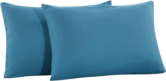 MOHAP Pair Of Queen Size Zipper Closure Pillowcase Pillow Cover Ultra Soft Pink