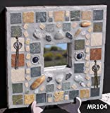 Stone, Southwest Handmade Mosaic Wall Mirror would Look Great on your Wall MR104
