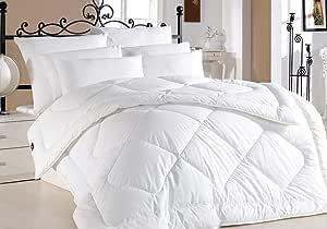 Hotel Turkish 6Pcs Comforter Set By I Relax - King Size, 4596, White, Cotton Satin