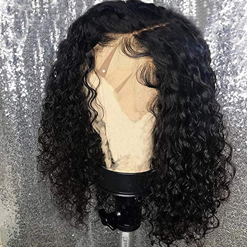 Curly Hair Styles Wavy - Diosa Short Curly Lace Front Wigs Human Hair For Black Women Short Bob 10 inch 150 Density With Baby Hair 100% Virgin Peruvian human hair (10