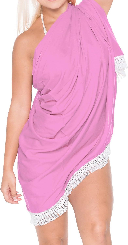 LA LEELA Baumwollschal Deal Kleid Handtuch Strand Sarong solide
