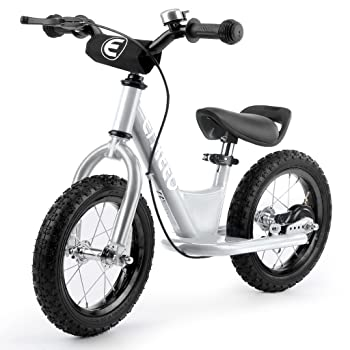 side facing silver enkeeo 14 12 inches sport balance bike