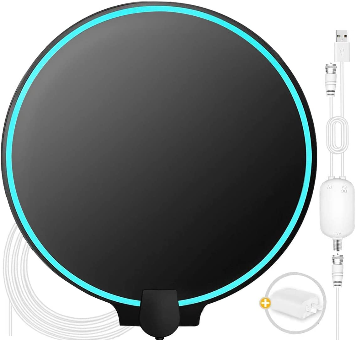 Amplified HD Digital TV Antenna Support All Local Channels Digital Antenna for Smart TV with Magnetic Base 【2020 Upgraded】Wonido TV Antenna Indoor HD Antenna for TV Indoor with 150 Miles Reception