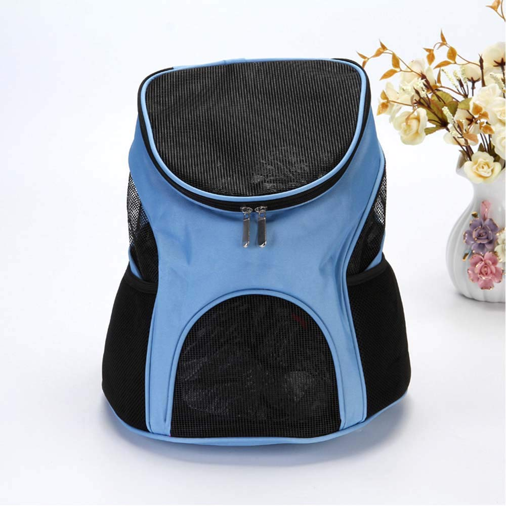 Large Pet Carrier, Pet Backpack, Soft-Sided Mesh Pup Pack for Outdoor Travelling, Portable Cat Dog Puppy Travel Bag,L
