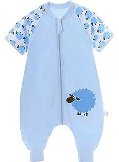 Abnehmbare /Ärmel,ganzjahres Baumwolle Junge M/ädchen unisex Overall Schlafanzug 3.5tog baby Schlafsack langarm winter kinder Schlafsack mit F/ü/ßen S Gr/ö/ße:80(0-12 Monate)