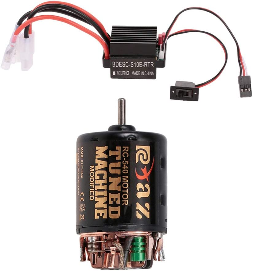 1//10 RC Brushed Motor Passend f/ür Axial Crawler RC Automodell DIY Hobby MT540-8T Dilwe 540 Brushed Motor