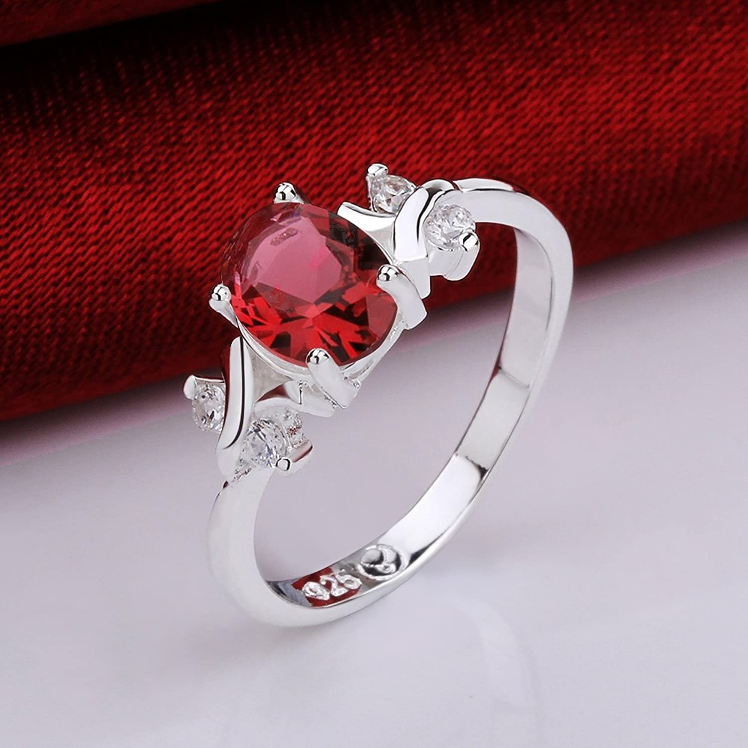 ring black vintage engraved onxy jewelry products flowers jewellery silver real for rings natural men garnet red fine stone sterling with